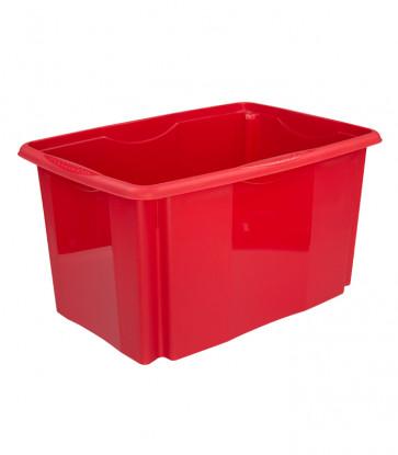 Plastový box Colours, 45 l, červený  POSLEDNÍCH 8KS