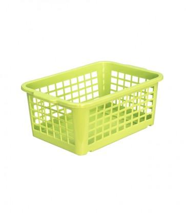 Plastový košík, malý, zelený, 25x17x10cm