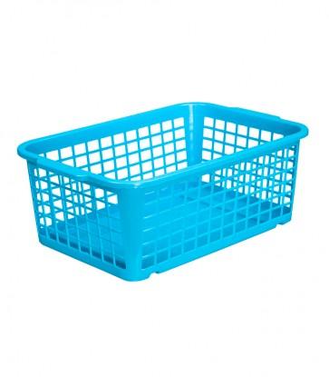Plastový košík, střední, modrý, 30x20x11 cm