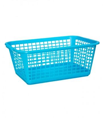 Plastový košík, velký, modrý, 35x26x15 cm - POSLEDNÍ 2 KS