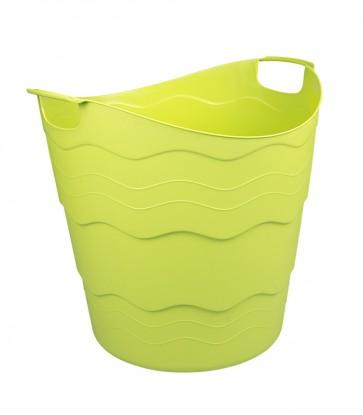 Plastový koš FLEX, 30 l, zelený - POSLEDNÍCH 8 KS