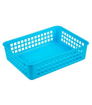 Plastový košík, A5, modrý, 24,5x18,5x6 cm