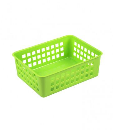 Plastový košík, A6 zelený, 18,5x14x6 cm