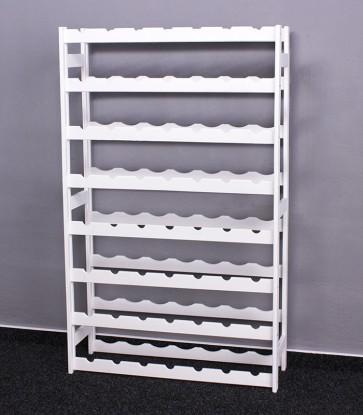 Regál na víno Raced, na 56 lahví, Lazur - bílý, 118x73x25 cm