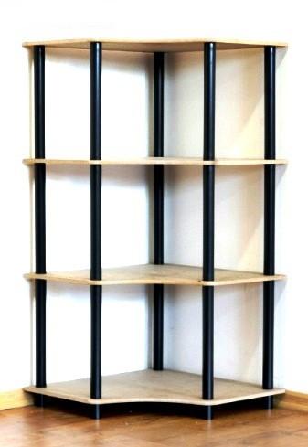 Regál rohový kombinovaný Dedal, 4 police, 108x55x55 cm