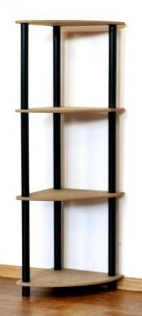 Regál rohový kombinovaný Dedal, 4 police, 108x33x33 cm