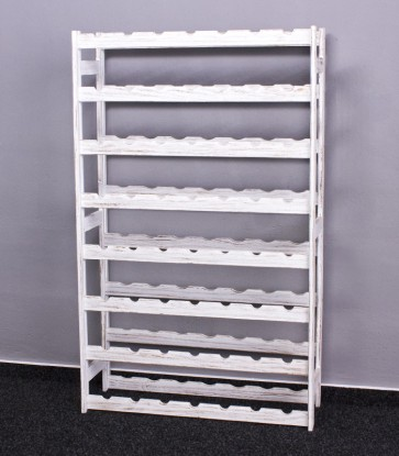 Regál na víno Raced, na 56 lahví, Provance - bílý, 118x73x25 cm