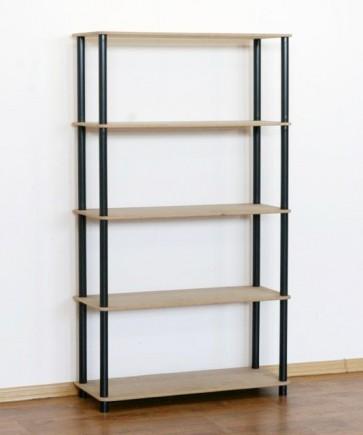 Regál kombinovaný Dedal, 5 polic, 142x80x33 cm