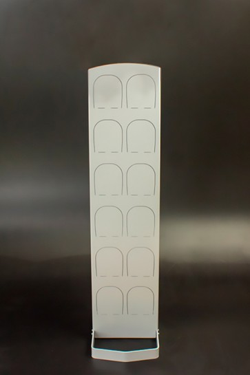 Kovový regál na boty Silver 6 párů bot, 126 x 30,5 x 5,5 cm (stojan 35 cm, konzole 14 cm)