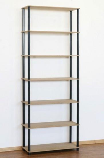 Regál kombinovaný Dedal, 7 polic, 210x80x33 cm