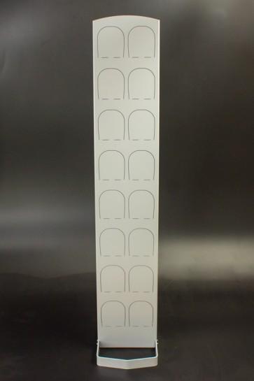 Kovový regál na boty Silver 8 párů bot, 164 x 30,5 x 5,5 cm (stojan 35 cm, konzole 14 cm)