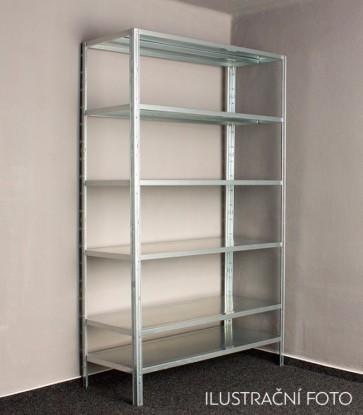 Kovový regál Idea, 6 polic, 300x100x30 cm, 90kg