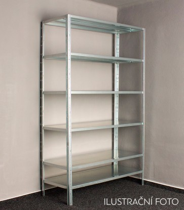 Kovový regál Idea, 9 polic, 300x120x60 cm, 140kg