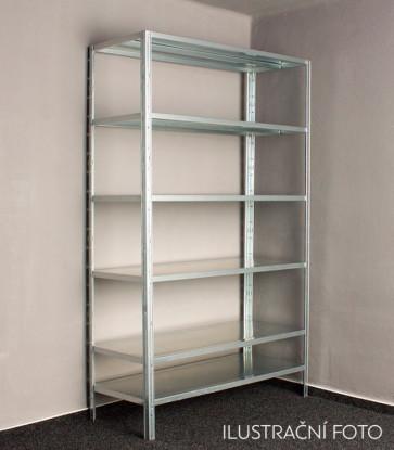 Kovový regál Idea, 7 polic, 240x120x30 cm, 80 kg