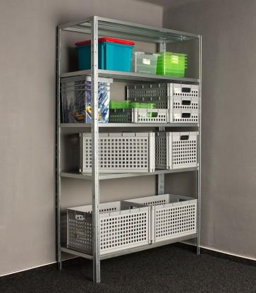 Kovový regál Idea, 5 polic, 200x120x50 cm, 120kg