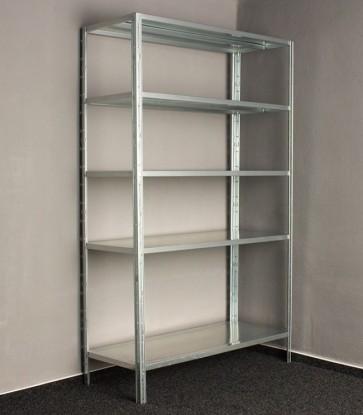 Kovový regál Idea, 5 polic, 240x100x30 cm, 90kg