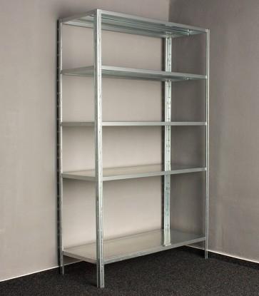 Kovový regál Idea, 5 polic, 200x120x60 cm, 120kg
