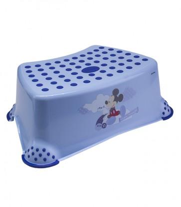 Dětský taburet v modré barvě s motivem Mickey - 40x28x14 cm - POSLEDNÍ 4 KS