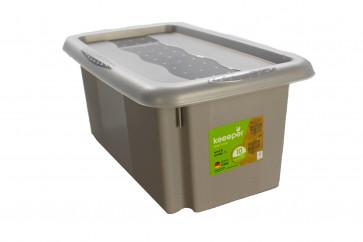 Plastový box Colours, 7 l, šedý s víkem