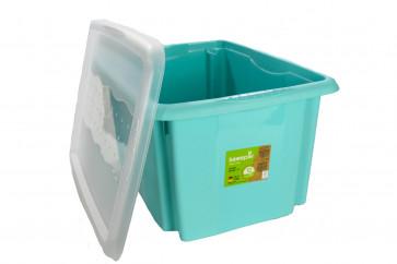 Plastový box Colours, 24 l, modrý s víkem