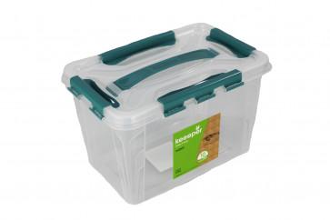 Plastový Clipp box, 10 l , průhledný , 39x29x12,4cm - POSLEDNÍCH 5 KS