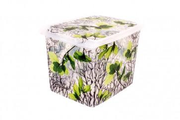 "Plastový box Fashion,  ""Spring"", 39x29x27cm - POSLEDNÍ KUS"