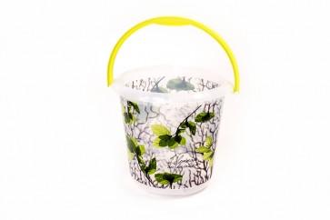 """Plastový kbelík Fashion """"Svěží Motiv"""", 30x28 cm, Objem 10l."""