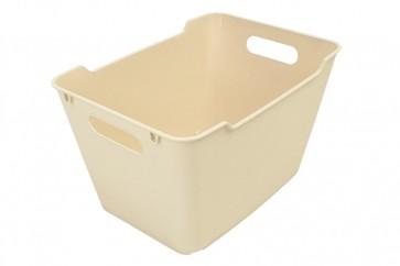 Plastový box LOFT 6 l, krémový, 29,5x19x15 cm - POSLEDNÍCH 24 KS