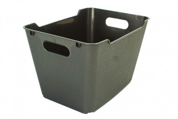 Plastový box LOFT 12 l, grafit, 35,5x23,5x20 cm.