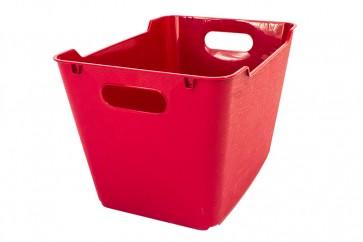 Plastový box LOFT 6 l, tmavě červený, 29,5x19x15 cm - POSLEDNÍCH 14 KS