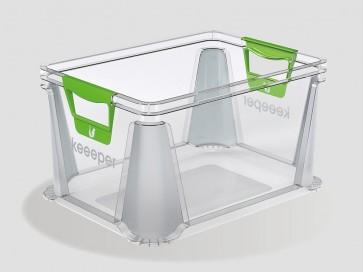 Plastový box Eurobox 20 l, průhledný