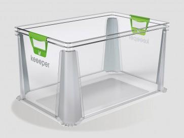Plastový box Eurobox 64 l, průhledný