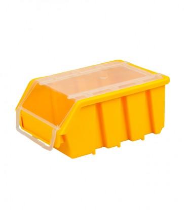 Box na drobný materiál s víkem, malý, žlutý - POSLEDNÍ 3 KS