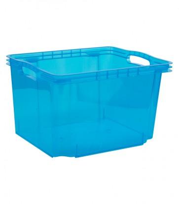Plastový box Multi M, svěží modrý, bez víka, 35x27x21 cm