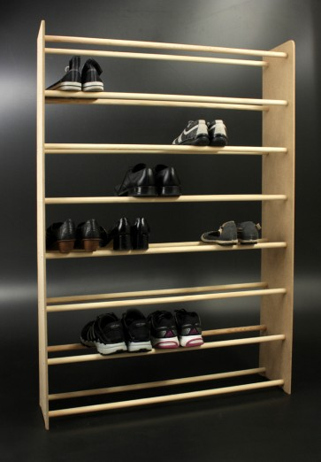 Regál na boty Soft, 135x46x24 cm