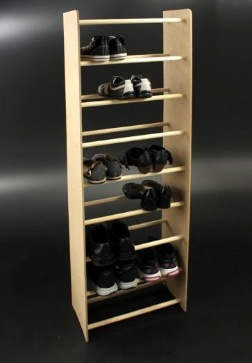 Regál na boty Soft, 153x90,5x24 cm