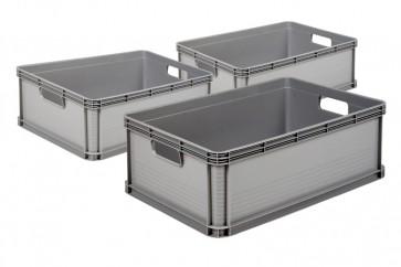 Zvýhodněná sada plastových boxů Robusto 45 l, 3 ks