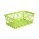 Plastový košík, střední, zelený, 30x20x11 cm