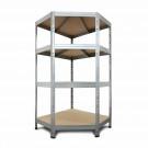 Kovový regál Corner- rohový ,180x90x45x64,5 cm -250kg