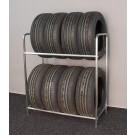 Regál na pneumatiky, pozink, 8 ks pneumatik
