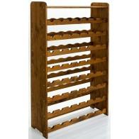 Regál na víno Rack, na 56 lahví, odstín Lazur - palisandr, 118x72x27 cm