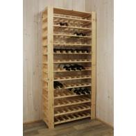 Stojan pro uskladnění vína, na 91 lahví, natur