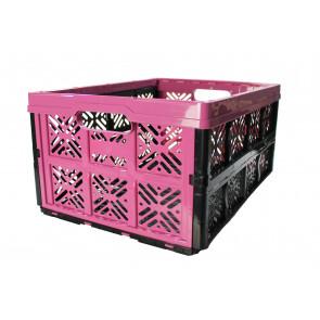 Plastový skládací box, malý, růžový