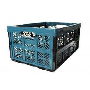 Plastový skládací box, malý, modrý