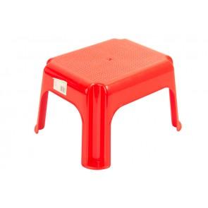 Plastový taburet červený, 36,5x30x24 cm - POSLEDNÍCH 6 KS