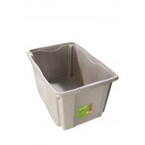 Plastový box Colours, 45 l, šedý s víkem