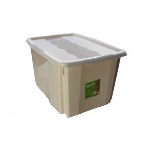 Plastový box Colours, 45 l, krémový s víkem