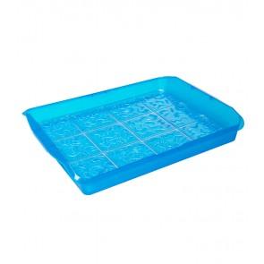 Plastový box PARTY, modrý, 35x45x11 cm
