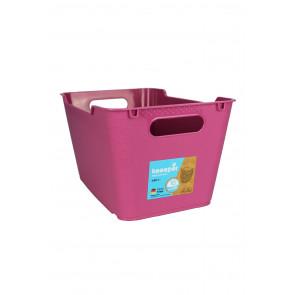 Plastový box LOFT 6 l, růžový,  29,5x19x15 cm