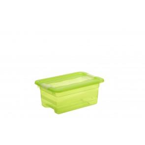 Plastový box Crystal 4 l, svěží zelený, 29,5x19,5x12,5 cm